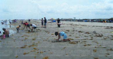 Playa vacacionistas