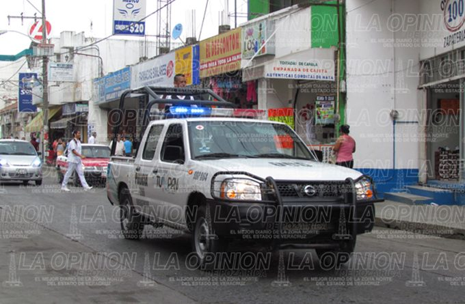 Policía resguarda bienes