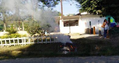 Contaminación queman basura