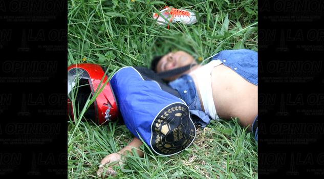 Joven asesinado