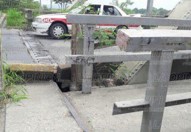 Urge mantenimiento del puente Cazones 1