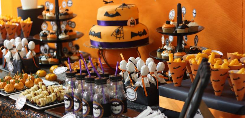 10 sencillas recetas para tu fiesta de halloween la - Decoracion mesa halloween ...