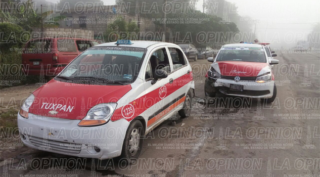 choque-entre-taxis-deja-una-persona-lesionada
