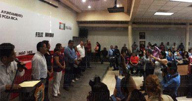 Alcalde de Poza Rica realiza el tradicional brindis