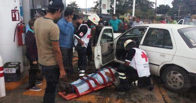 Dos heridos en choque