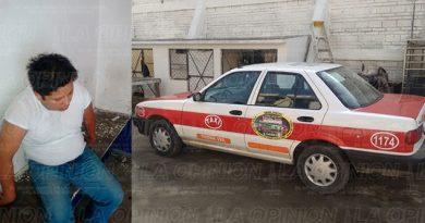 Ebrio Taxi Choca Poste
