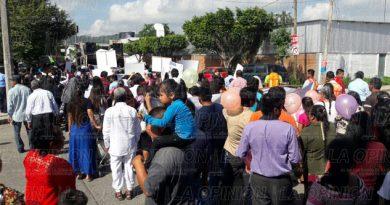 Mega marcha en las calles de Poza Rica