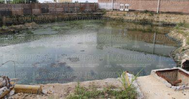 Ocultaban albercas de aguas residuales