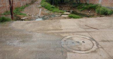 Truena drenaje en El Chote