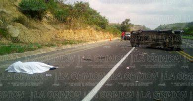 Un muerto y tres heridos en la México-Tuxpan