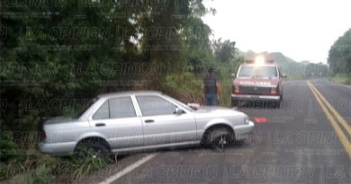 Accidente en la Papantla- Gutierrez Zamora