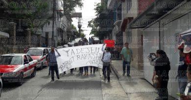 Anifestación de dueños y trabajadores de bares y cantinas
