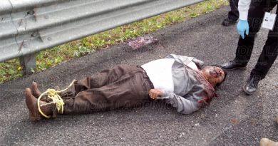 Aparece hombre ejecutado en la México - Tuxpan