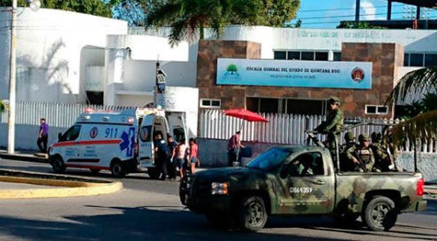 Atacan fiscalía de Cancún