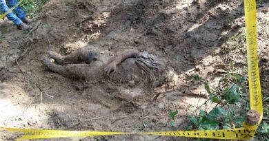 Autoridades sepultan cadáver de ejecutado