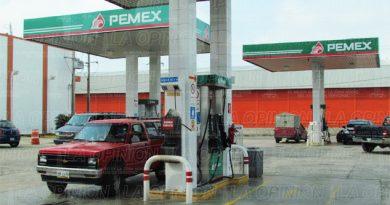 Baja venta de gasolina