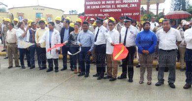 Dieron el banderazo a la lucha contra el dengue