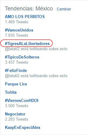 Hastag Tigres Twitter