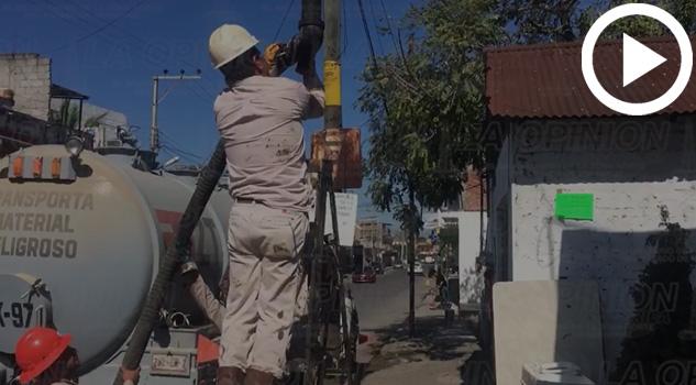 VIDEO: Limpieza sabatina de personal de Pemex