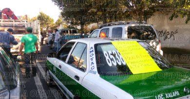 Protesta de transportistas en Xalapa
