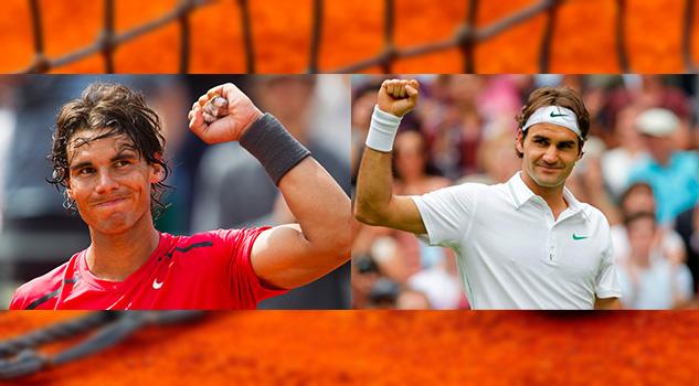 Rafael Nadal versus Roger Federer