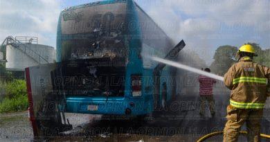 Se incendia autobús de la línea ECOBUS