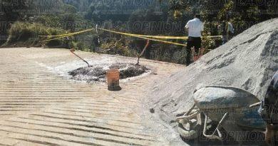 Suspenden rehabilitación de camino hacia Cuacuila