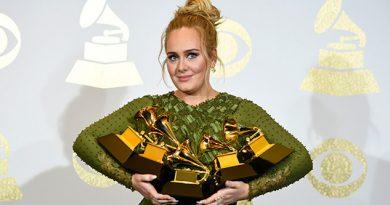 Adele arrazo con los Grammy