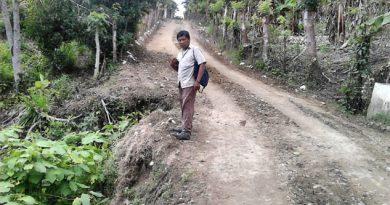 Camino peligroso; tramo Lomas Verdes-Chijol