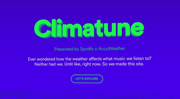 Escucha música de acuerdo al estado del tiempo