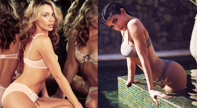 ¡Tómala! Kylie Minogue noquea a Kylie Jenner