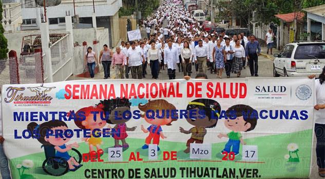 Marchan por la Semana Nacional de Salud