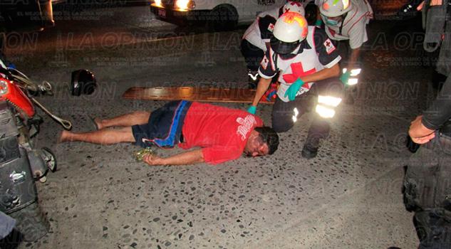 Motociclista Violento Accidente