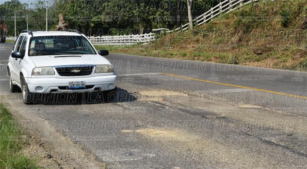 SCT no cumplió con la rehabilitación del tramo Tihuatlán - Poza Rica
