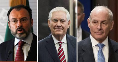 Tillerson, Kelly y Videgaray