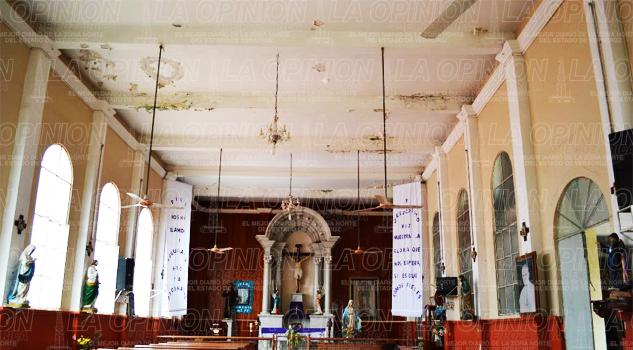 Daño estructural en la parroquia