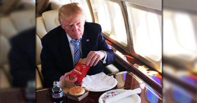 McDonald's llama asquerosa excusa de un presidente a Trump
