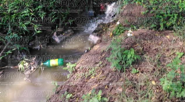 No cesa la contaminación del río Tecolutla