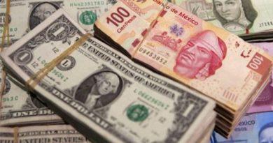 Peso mexicano se beneficia ante retroceso del dólar