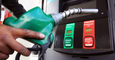 Precio de las gasolinas bajan un centavo