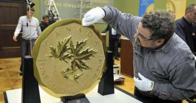 Roban la mayor moneda de oro del mundo