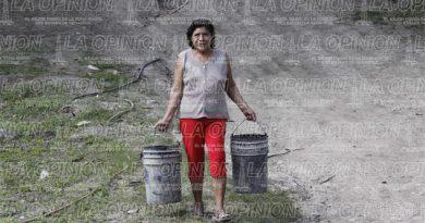 Sin agua en Papantla; quejas de la ciudadanía