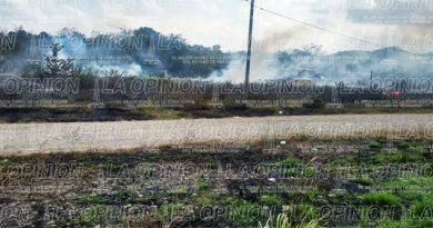 Zozobra por incendio en zona habitacional