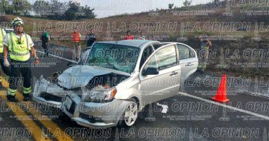 Aparatoso accidente en la autopista Totomoxtle