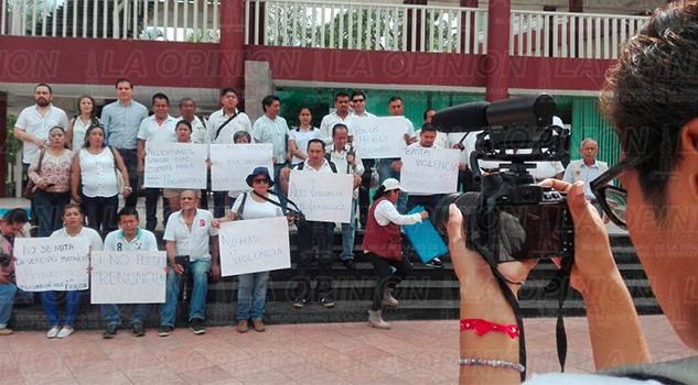 Armando Arrieta Manifestación Periodistas Poza Rica