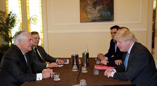 Cancilleres del G7 analizan la guerra en Siria