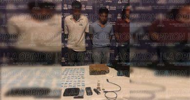 Capturan a tres jóvenes con sobres de cocaína y un paquete de marihuana