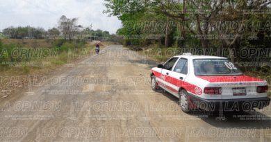 Carretera en total abandono