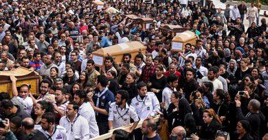 Despiden a víctimas del atentado terrorista en Egipto