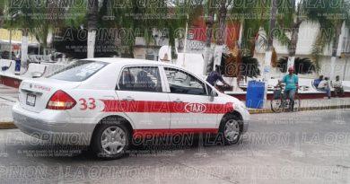 Frenan el sitio de los taxistas que van de Tuxpan a Tamiahua